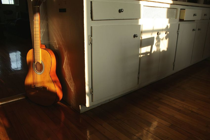 Guitar Sunset Warm