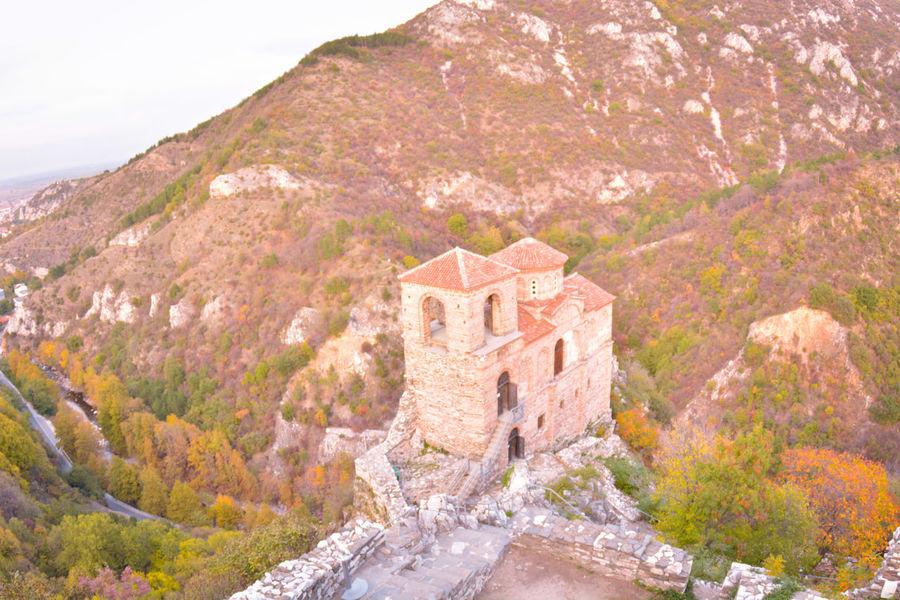 Medieval Architecture Architecture Mountain History Outdoors Travel Destinations Fortress Asenova Krepost autumn Rhodopes