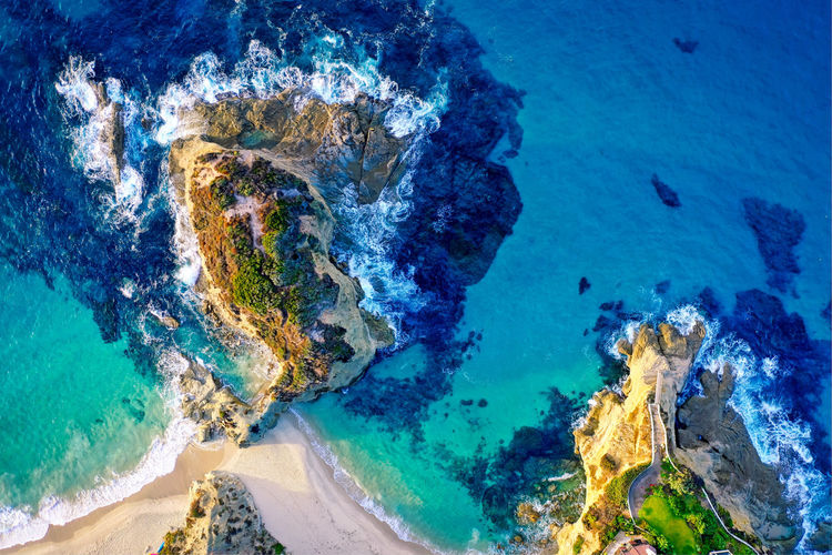 Sea Water Nature Beach Land Beauty In Nature No People Outdoors Rock - Object Turquoise Colored Power In Nature Coastline Drone  HDR Drone Photography HDR Collection California Coast