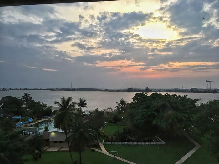Sun set Sky Water Beauty In Nature Sea Cloud - Sky Plant Sunset Nature Scenics - Nature Beach Tree Horizon Over Water Land Incidental People Tranquility Tranquil Scene Outdoors Horizon