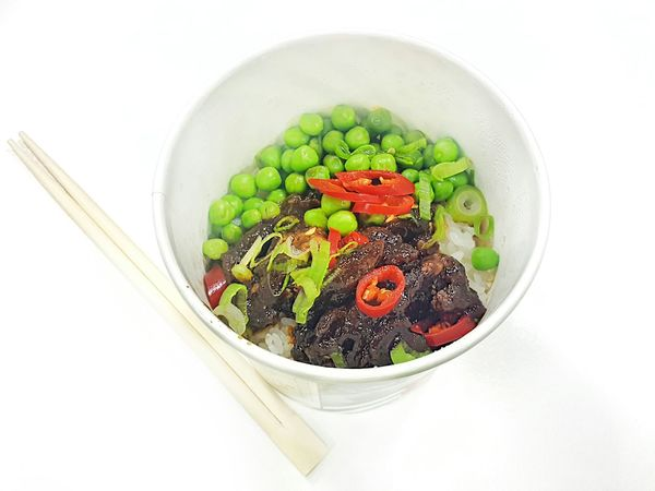 Healthy Eating Vegetable Ready-to-eat Yosushi Beef Peas Rice
