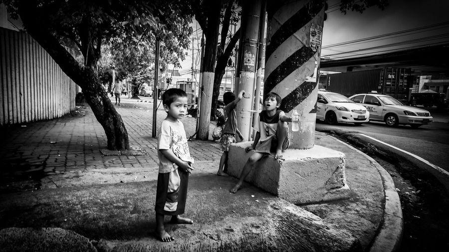 Street as their playground... Street Children Street Photography Streetphotography_bw Paco Manila Black And White Children EyeEm Best Shots The Street Photographer - 2015 EyeEm Awards EyeEm Gallery Black And White Photography
