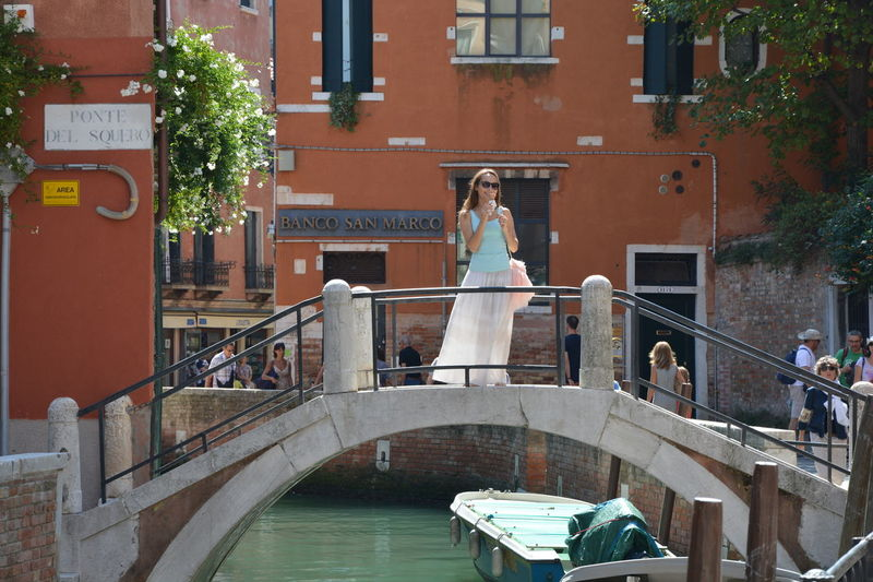 Life in Venice Architecture Bridges Canal Canal Grande Day Gondola Ice Cream San Marco Standing On A Bridge Venice Venice, Italy Water People And Places