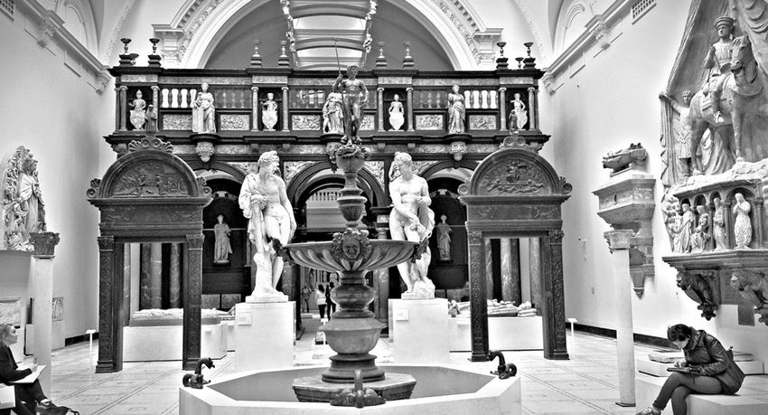 Looking back in history. Photo taken inside the Victorial and Albert Museum, London Blackandwhitephotography Art Museum Historical Building Historical London Statue Statues Sculpture Travel Photography Cellphonephotography Mobilephotography History Museum  Museum Victoriaandalbertmuseum  London England United Kingdom