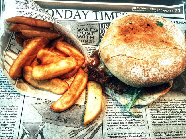 Burger And Fries Burger And Chips
