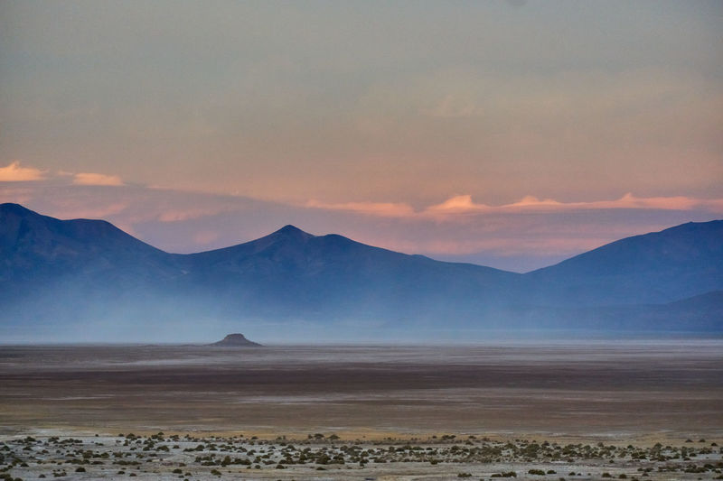 Sunset on the bolivian altopiano
