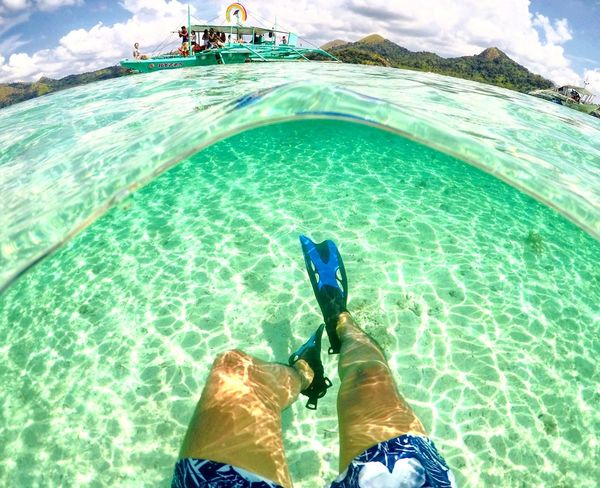 Snorkeling Adventure Snorkel Diving Snorkelling Island Paradise Island Water Leisure Activity Lifestyles Real People Nature Day Sunlight Turquoise Colored Outdoors Beauty In Nature Sea Personal Perspective High Angle View First Eyeem Photo EyeEmNewHere