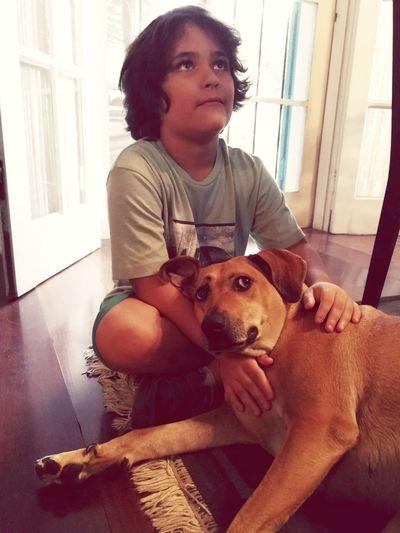 Kid and Dog Dog