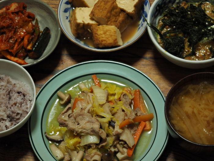 【豚肉と野菜の炒めもの】【厚揚げ】【キムチ】【納豆】! Foods Foodgram Foodies In My Mouf Enjoying A Meal Foodporn Foodpics Japan Foodgasm Foodstagram Taking Photos Taking Pictures Yummy Japanese Food Relaxing Macro Close-up Macro Photography