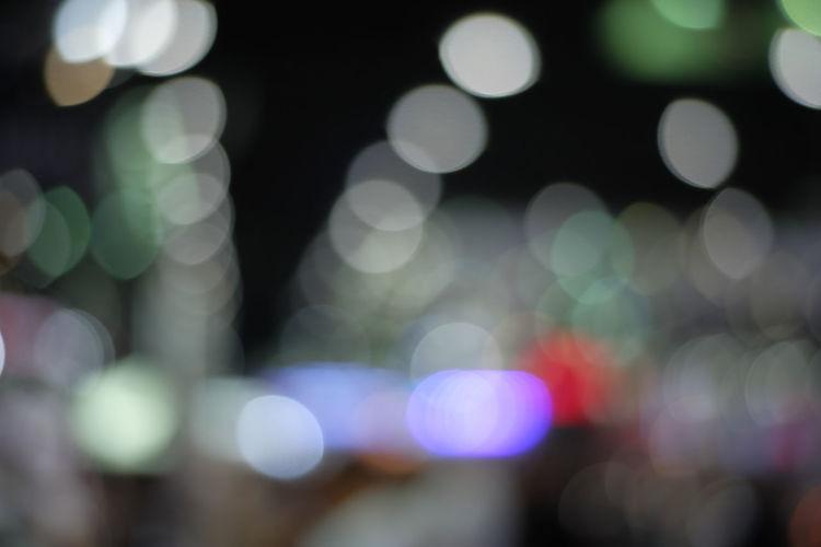 Defocused lights at night
