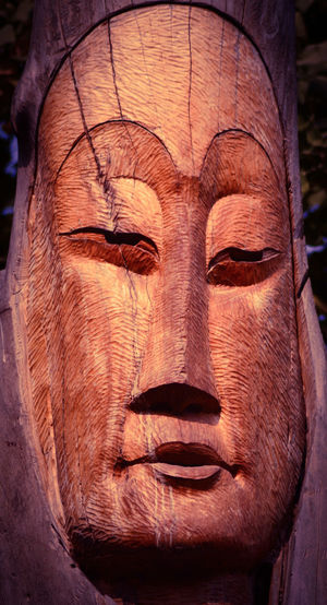 Wood carving in