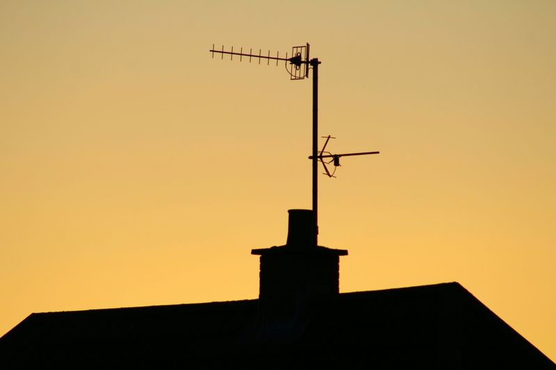 EyeEm Sunsets Rooftops Silhouette_collection Rooftop Silhouette Tv Antennas Tv Aerial Chimney EyeEm Gallery Our Best Pics EyeEm Best Shots Exceptional Photographs The Purist (no Edit, No Filter)