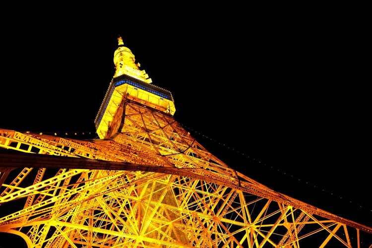 Seeing The Sights - Tokyo Tower rising to the sky Tokyo Tower Tokyo Japan Photography Travel Photography Landmarks
