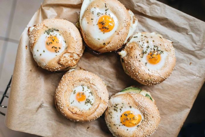 Tastiest self-made breakfast ever. Breakfast Bread Breakfast Close-up Day Egg Egg Yolk Food Food And Drink Freshness Fried Egg Healthy Eating High Angle View Indoors  No People Plate Poached Ready-to-eat Sunny Side Up Table