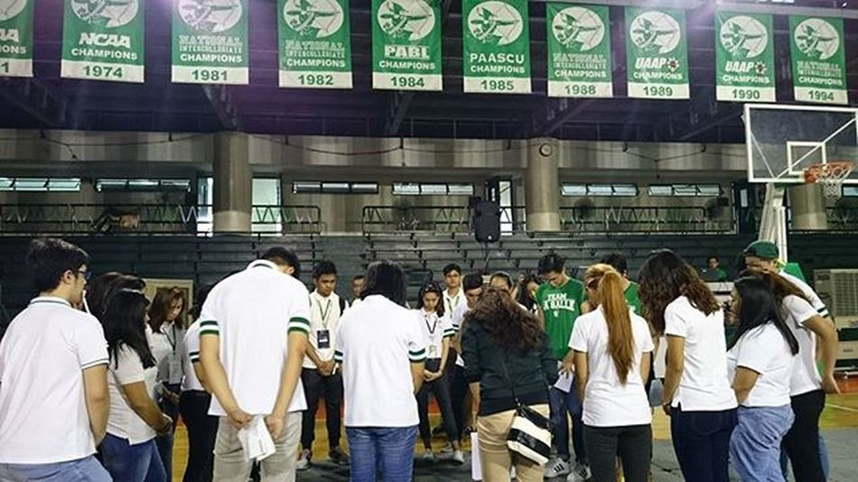 Organizing committee of this year's Animo Rally . . . AnimoRally2015 UAAP Uaap78 Uaapseason78 lasalle greenarchers onelasalle sports themanansala