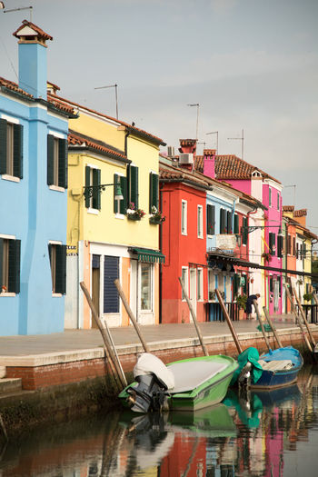 A Day in Burano Architecture Canals Colourful Buildings Fishing Boats Moored Outdoors Reflection Travel Destinations Travel Photography Water Waterfront