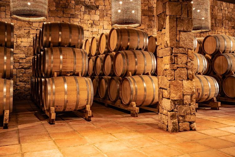 wine Barrels in