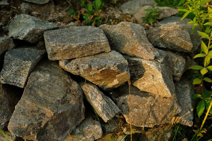 Backgrounds Close-up Day Focus On Foreground Full Frame High Angle View Land Leaf Mamor Mamorsteine Nature No People Outdoors Plant Plant Part Rock Rock - Object Rough Solid Steine Steinhaufen Stone Stone - Object Textured