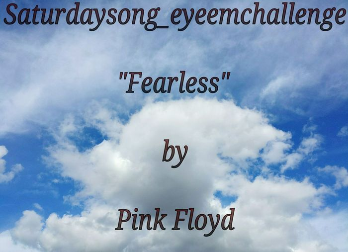 "Hello!! This Saturday's song for April 11, 2015 is ""Fearless"" by Pink Floyd. http://youtu.be/9M23zjNrG9M TAG: Saturdaysong_eyeemchallenge It is an honor to host my first challenge! I would like to invite you all to participate this weekend! ALL ARE WELCOME! There are the rules: 1) Every Saturday will be posted a new picture with a song, that is the object of the challenge. 2) The challenge will start from 0:00 am and will finish at 24:00 pm of the winner's country. *Pacific Standard Time this Saturday.* 3) It will be accepted every photo that will have a theme part of the lyrics or music of the song. 4) Pictures can be b/w or colored. 5) The winner will be able to choose the song and the successive winner. HAVE A GOOD TIME AND JOIN US! I look forward to your interpretations and creative photography! Pink Floyd - Fearless Pink Floyd Fearless Challenge"