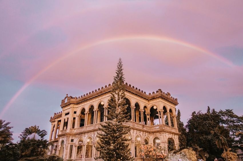 Double Rainbow at The Ruins | Bacolod, PH Bacolod Love History Ruins Rainbow Architecture Rainbow Built Structure Building Exterior Low Angle View Tree Sky No People Outdoors Multi Colored Day Nature Beauty In Nature