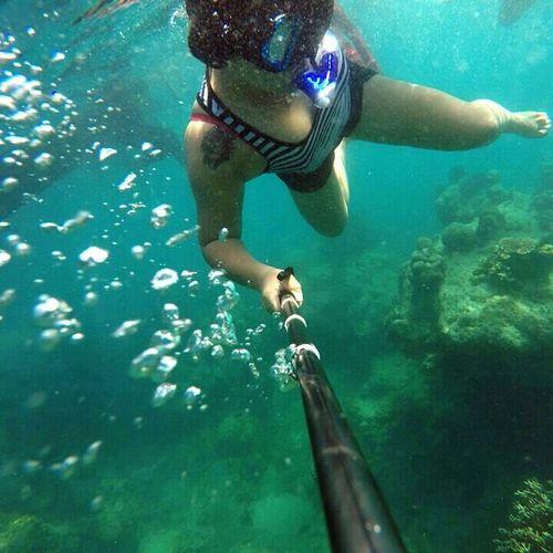 Snorkeling Gopro Goprohero4 Goprooftheday Goprounderwater Underwaterpictures Selfie