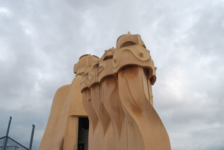 Architecture Barcelona Barcelona, Spain Casa Mila ( La Pedrera ) Casa Milà Gaudì Cloud - Sky Day Gaudi Low Angle View No People Outdoors Sky SPAIN Statue