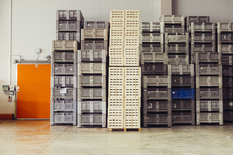 Stack Of Boxes In Industry