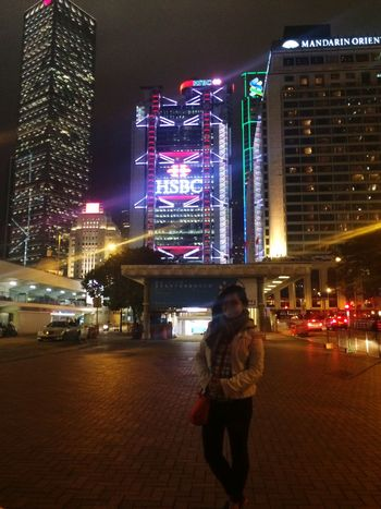 #hongkong Night Illuminated Building Exterior Architecture Built Structure City City Life
