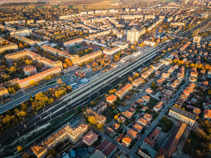 Building Exterior Built Structure Cityscape Building Outdoors Day Road Street City Life Aerial View Architecture City Dimitrovgrad Drone  Dronephotography Dji DJI Mavic Air