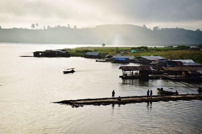 good morning Riverside Rafting Simple Life Karnchanaburi Sangklaburi Quiet And Peaceful Thailand