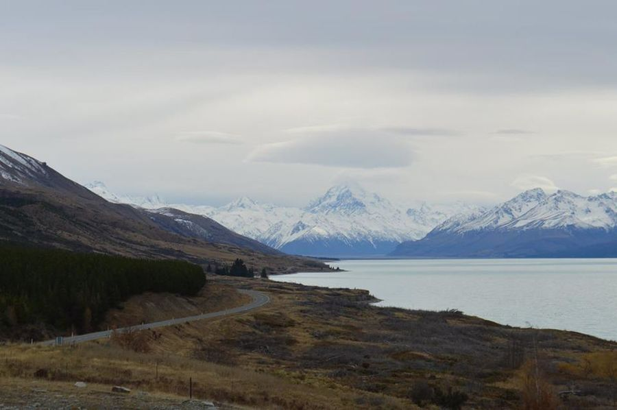 Aoraki Lost In The Landscape Mount Cook Village Lake Pukaki Mount Cook Mountain Range New Zealand Snow