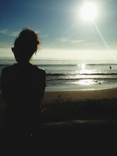 Darkness And Light Gs5 Girlfriend Mymodel Photography EyeEm Beach Bird Sun Water