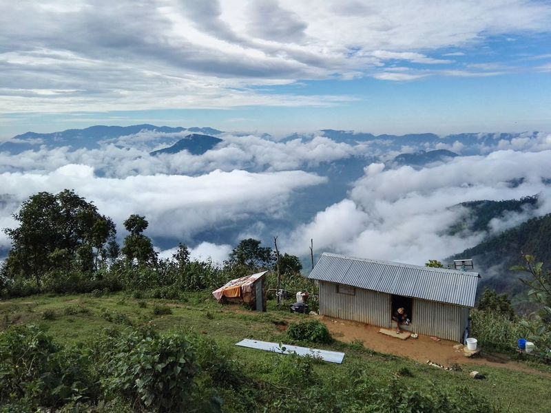 Beauty In Nature Himalayan Foothills Clouds Early Morning Sky Hills HimalayaScape Nature Photography Tranquility Nepal