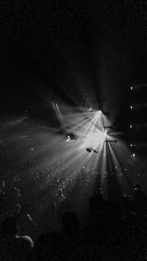 Light And Shadow Blackandwhite People Concert Night Illuminated Outdoors Nature No People