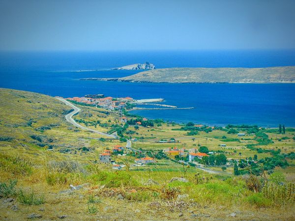 Village Seaside Village View From The Top Viewpoint Viewpoints Lesvos Island Greek Islands Seascape Landscape Landscapes Summer Memories 🌄 Summer Views Port Small Port Islets Houses Shades Of Blue Blue Sea Blues Blue Wave Country Road Blue Horizons The Great Outdoors - 2016 EyeEm Awards A Bird's Eye View