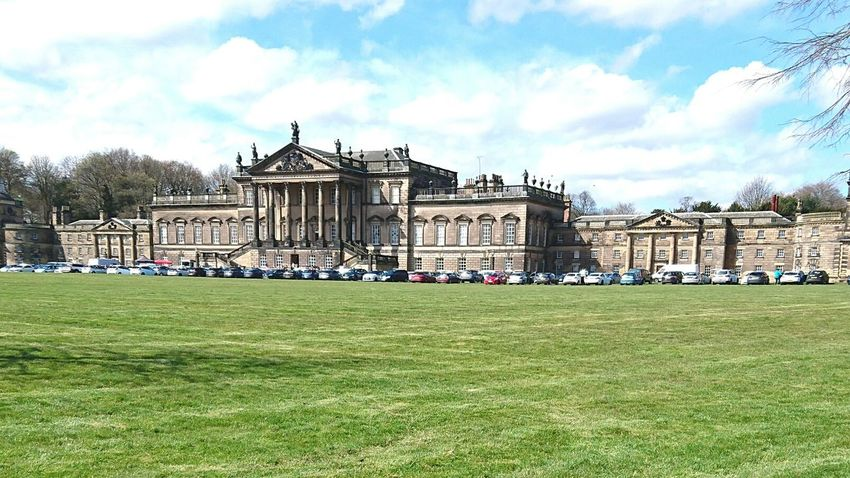 Wentworth House, Rotherham, UK Built Structure Architecture Building Exterior Grass Green Color Mid Distance Grassland Landscape Sky Cloud Field Growth Surface Level Green Tranquility Outdoors Day Nature Playing Field Tranquil Scene Tourism Majestic Horizon Over Land Pedestrian Walkway The Way Forward