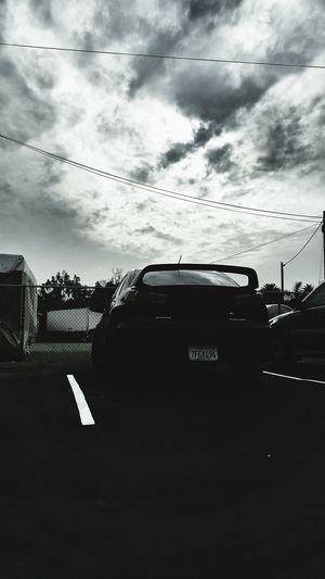 Cloud chaser Mitsubishi Evolution  EvoX Blackandwhite Cloudporn Jdmlifestyle Loweredlifestyle