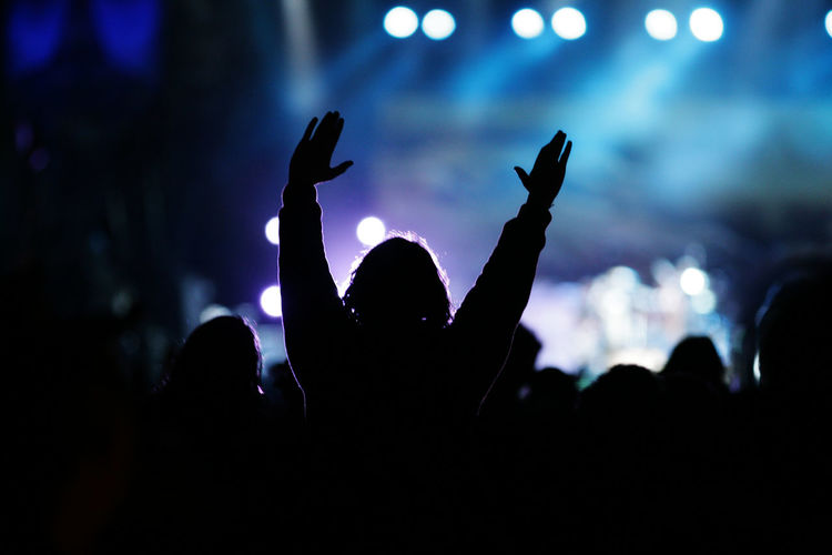 people at a concert Happy Music Open-air Openair Celebrate Celebrating Concert Crowdsurfing Festival Open Air Sunset