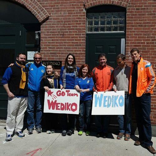 Good luck Team Wediko!! WeRunTogether Bostonstrong