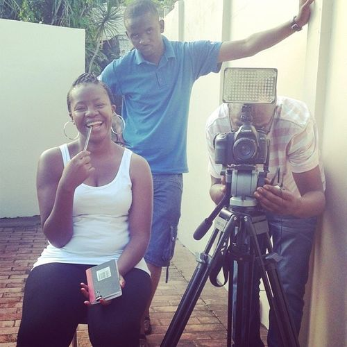 SABC Crew prep for my shot InFrontOfTheCam NervousAF