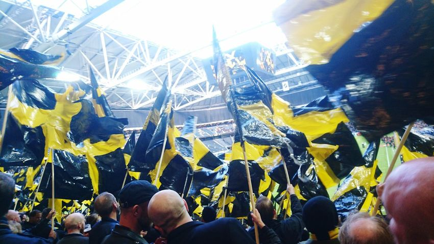 Football Fever Football Derby Stockholm Derby Match Matchday Black And Yellow