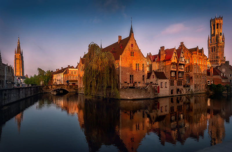 Built Structure Building Exterior Architecture Reflection Water Sky Building Waterfront Nature River Travel Destinations History No People City The Past Travel Religion Spirituality Tourism Outdoors Spire  Brugge Belgium Remo SCarfo EyeEm Best Shots EyeEmNewHere EyeEm Selects