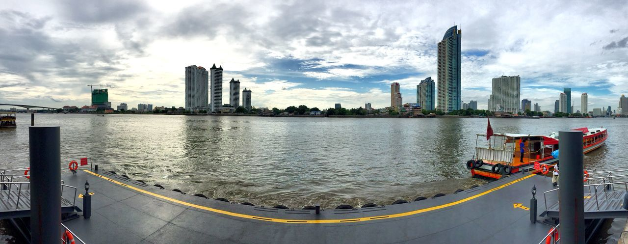 Bangkok Thailand. City Skyline view from Asiatique The Riverfront Panoramic Photography IPhoneography ShotOniPhone6 Cityscapes