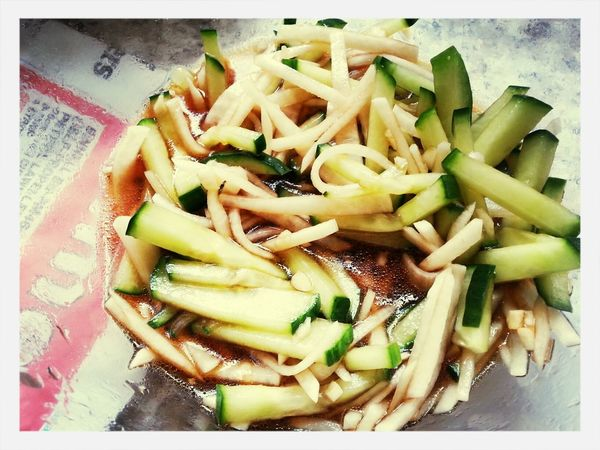 Cucumber & turnip. Perfect cold dish for perfect English summer ♥