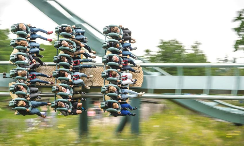 Thrillrides Day Sky Outdoors Amusement Park Ride Fun Rollercoaster Arts Culture And Entertainment Amusement Park Emotions Captured Motion Blur Motion Motion Capture Motion Photography Motionblur