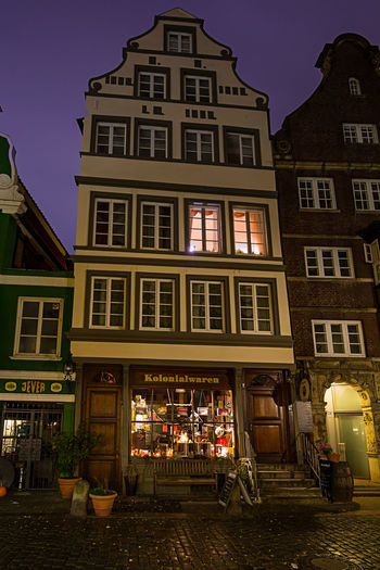 Building Exterior Architecture Built Structure Illuminated Building City Night Outdoors Hamburg, Hamburger Hafen Window Store Retail  Cafe Market Business