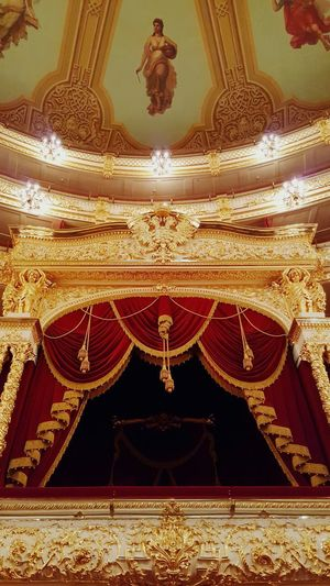 Gold Colored Indoors  Gold Illuminated No People Auditorium Arts Culture And Entertainment Moscow Russia Travel Destinations Social Life Theater Theatre Seats Royal Box Bolshoi Theater Bolshoi Theatre Architecture Built Structure Imperial