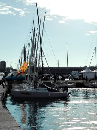Sea Water Sky No Filter Day Outdoors Boat Tranquility Transportation Trieste Sailboat Calm Waterfront Clear Sky No Filters  Smartphonephotography Nautical Vessel Barcolana2016