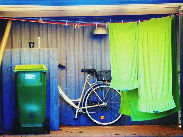 Green Green Composition Bike Towel Bin EyeEmNewHere