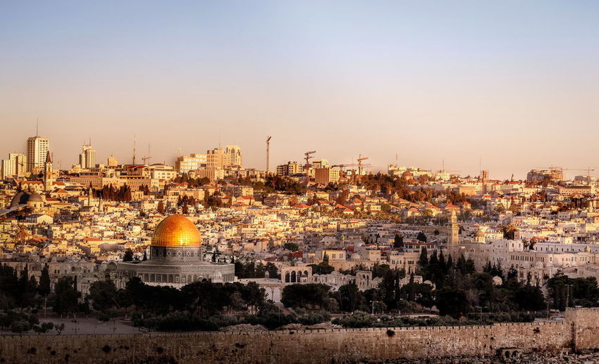 Jerusalem view from Mount of Olives Jerusalem Mount Of Olives Sunrise Panorama EyeEm Bestsellers